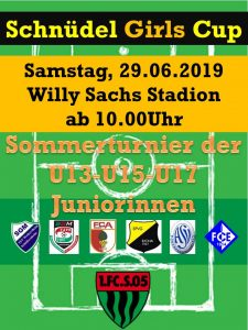 Schnüdel Girls Cup 2019 @ Willy Sachs Stadion